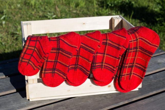 как связать носки тартан описание