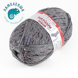 Fortissima Tweed Effekt 6-ply 157 Dunkelgrau