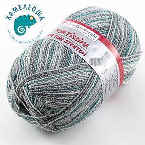 Fortissima Cotton Stretch Caribic 028 Green
