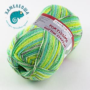 Fortissima Cotton Stretch Caribic 039 Kiwi