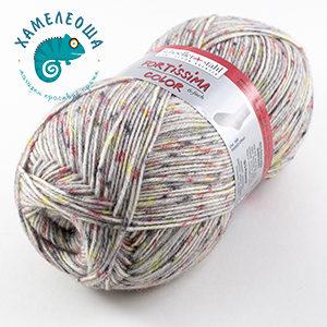 Fortissima Tweed Effekt 6-ply 169 Kiesel