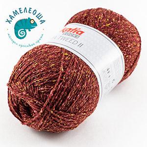 Katia Seta Tweed II Socks 82 Гранат