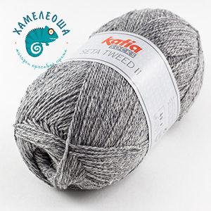 Katia Seta Tweed II Socks 84 Горный Хрусталь